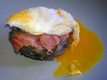 Artichoke Heart with Smoked Salmon and Fried Egg Over Easy Recipe