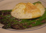 Roasted asparagus and a fried egg Recipe
