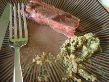 Grilled Flank Steak with Charred Green Onion Pesto Recipe