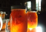 Spiced Peach and Nectarine Jam with Candied Ginger Recipe