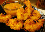 Coconut Fried Shrimp w/ Horseradish-Marmalade Sauce Recipe