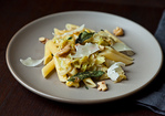 Weeknight Pasta with Caramelized Cabbage, Sage Infused Brown Butter and Walnuts Recipe