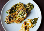 Chicken Cutlets Grilled in Charmoula with Quick-Cured Lemon Confit Recipe
