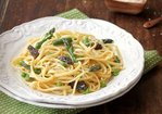 Linguine with Asparagus, Morels and Fava Beans Recipe