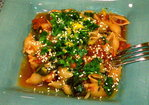 Za'atar Spiced Fish Pasta with Spinach Recipe