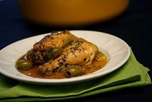 Chicken Tagine with Fennel, Preserved Lemons, and Green Olives Recipe