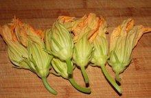 Zucchini Risotto with Stuffed Squash Blossoms Recipe