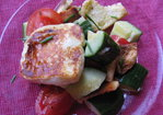 FATTOUSH SALAD WITH GRILLED HALLOUMI Recipe