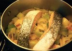 Poached Salmon with Leeks Recipe