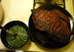 Perfectly grilled flank steak with chimichurri sauce Recipe