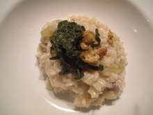 Pork & Cider Risotto with Sage Pesto and Fried Sage and Chestnut Topping Recipe