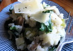 Baked risotto with mushroom, kale and leek Recipe