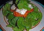 Rustic Smoked Salmon Cakes on Salad Greens with Garlic Tartar Sauce & Lemony Watercress Recipe