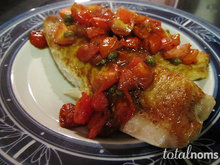 Pan-Seared Tilapia with Balsamic-Cherry Tomato Quick Sauce Recipe
