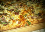 walnut, roasted red grape and balsamic onion pizza with sage bachamel Recipe