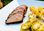 Caribbean Jerk Pork Tenderloin w/ Pineapple Jicama Salsa Recipe