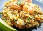 Coconut-Ginger Quinoa with Carrots and Shrimp Recipe
