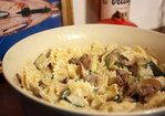 Pasta with Zucchini in a Creamy Mushroom Sauce Recipe