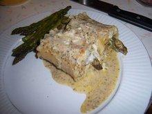 Creamy Pesto Tiger Shrimp and Asparagus Lasagna Bundles Recipe