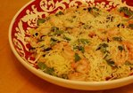 Capellini with Shrimp, Drunken Cherries and Basil Recipe