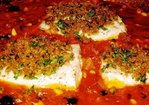 Swordfish Baked in Tomato Sauce with Crunchy Breadcrumbs Recipe