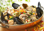 Seafood with Wild Rice Recipe