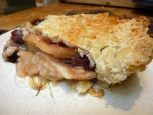 Pear and Dried Fruit Honey Pie with Blue Cheese Crust Recipe