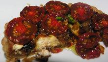 Black cherry tomato tart Recipe