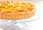 Candied Winter Citrus Tart with Vanilla Custard, Dark Chocolate, & Flaked Salt in a Whole Wheat Almond Shortbread Crust Recipe