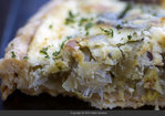 Potato Leek Tart with Goat Cheese and Parsley Purée Recipe