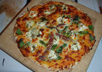 Pizza with butternut squash sauce Recipe