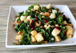 Kale bread salad with lemon poppy seed vinaigrette Recipe