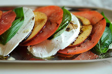 Tomato, nectarine and mozzarella salad Recipe