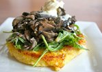 Warm Mushroom Salad with Crispy Polenta Recipe