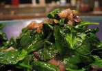 Wilted Spinach Salad w/ Balsamic Caramelized Red Onions Recipe