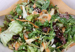 Green Salad with Shaved Parsnip, Carrot, Apple and Honey Roasted Walnuts Recipe