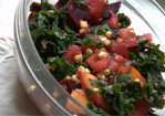 late summer massaged kale salad Recipe