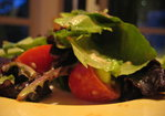 Dijon Anchovy Dressing over Baby Romaine.... Recipe
