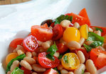 Mixed Tomato and Cannellini Bean Salad Recipe