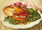 """BLT"" Farmer's Salad with Toasted Corn Vinaigrette Recipe"