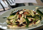 Zucchini Ribbon Salad with Parmigiano and Raisins Recipe