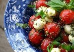 Pesto Cherry Tomato Caprese Salad Recipe