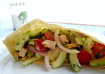 Grilled Chicken and Harrisa-Yogurt Salad Pita Pocket Recipe