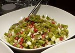 Green bean salad with pomegranate seeds and fennel Recipe
