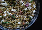 Lentil Salad with Mozzarella and Bacon Recipe
