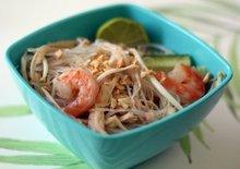 Thai Noodle Salad with Turkey and Shrimp Recipe