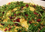 Sumac and Turmeric Couscous Salad with Rocket and Cranberries Recipe