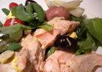 Spring Vegetable and Salmon Nicoise Platter Recipe