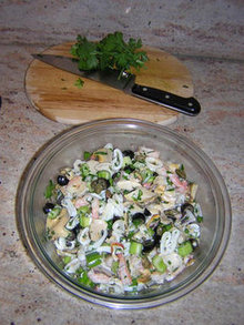 Christmas Eve Seafood Salad Recipe