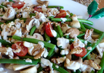 Marinated Mushroom, Green Bean, Cherry Tomato & Walnut Salad Recipe